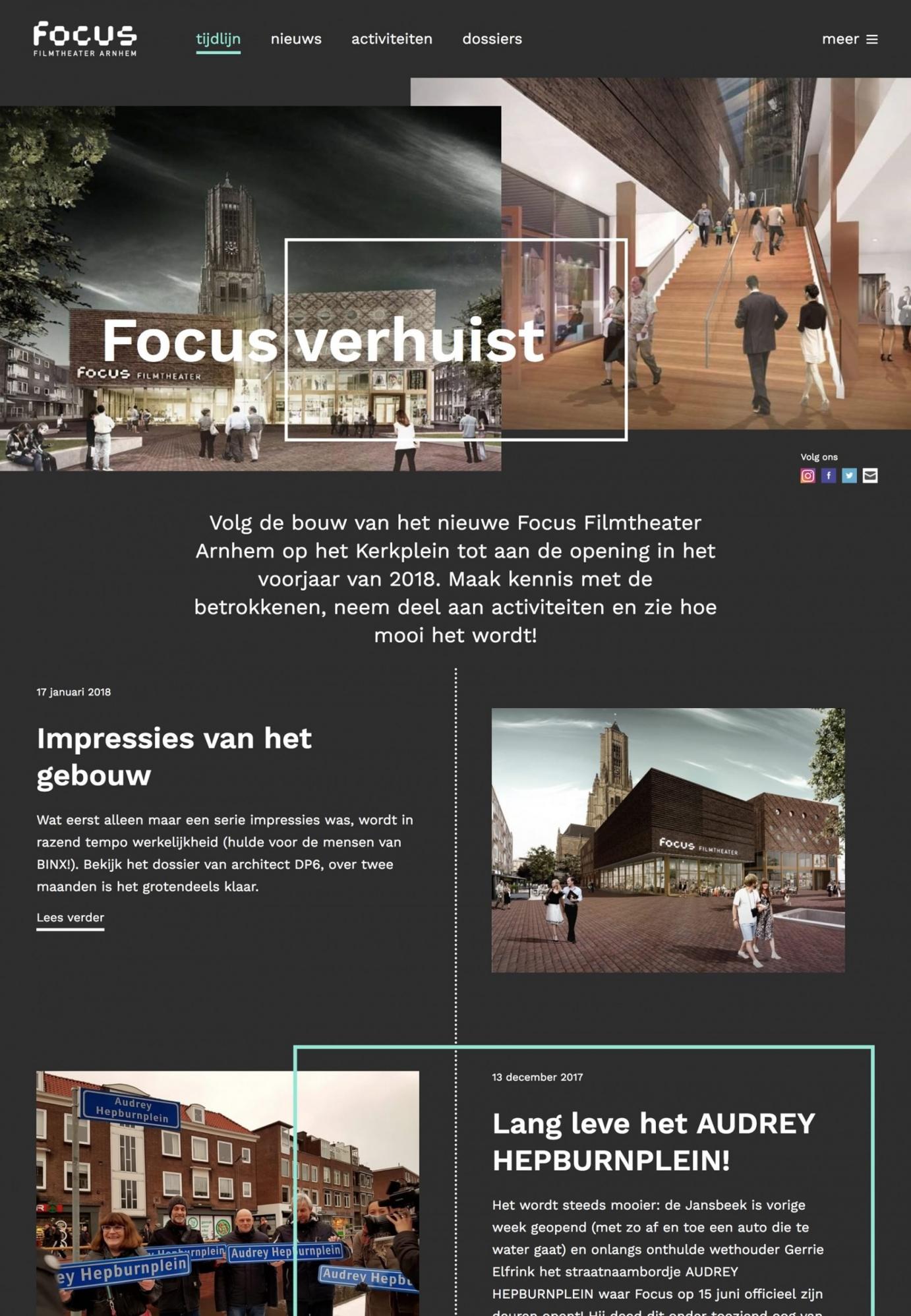Focus verhuist homepage