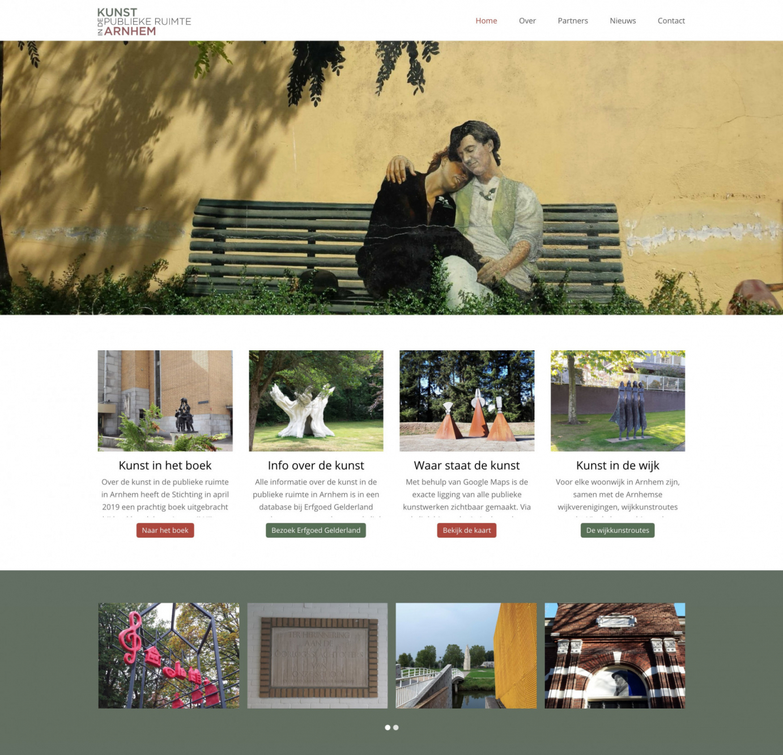 Homepage met sliders en carousel